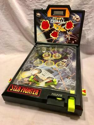 Vintage Lcd Pinball Electronic Game Star Fighter Works Nice Shape Portable