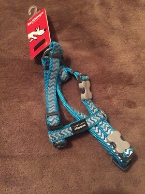 RED DINGO HARNESS - ZIGGY TURQUOISE (SMALL 15mm) Free Post