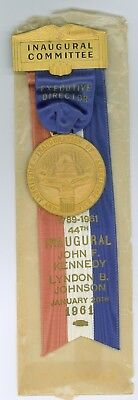 Vintage 1961 President John Kennedy 44th Inaugural Pinback Badge Exec Director