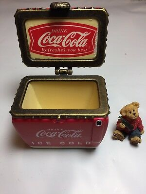 "Boyds Treasure Box ""Coke® Chest w/Thirstin"" Licensed- #919910- 2E RARE"