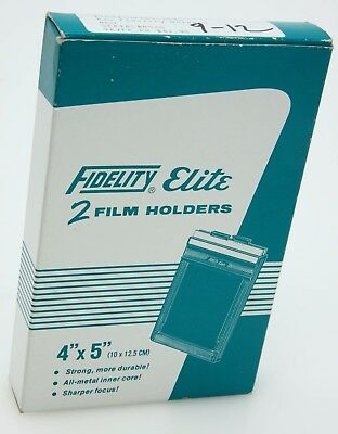 Fidelity Elite 4x5 film holders, qty 2, slides in box #362821