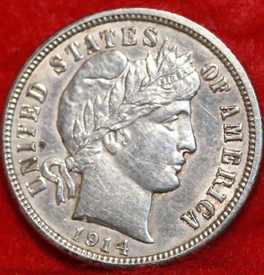1914-D Denver Mint Silver Barber Dime Free Shipping