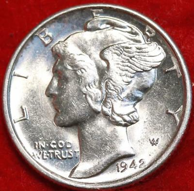 Uncirculated 1942-S San Francisco Mint Silver  Mercury Dime Free Shipping