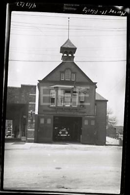 1927 Murray St Fire Engine House 274 Flushing Queens NYC Old Photo Negative 262i