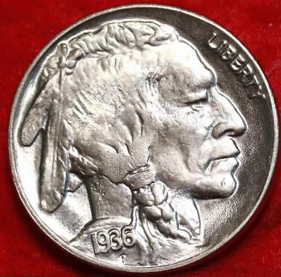 Uncirculated 1936-D Denver Mint Buffalo Nickel Free Shipping