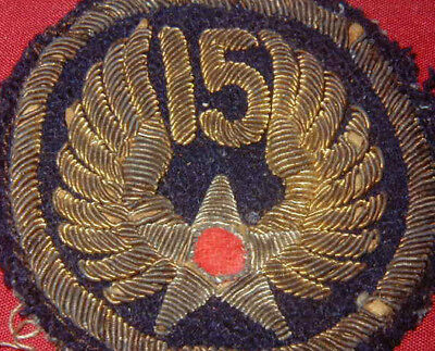 Original Theater Made WWII 15th USAAF patch Italian Made Bullion Variation Used