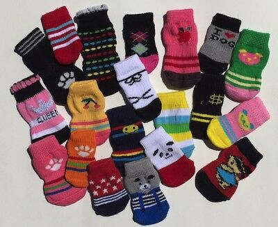 SOCKS for Dog Slipper Pet Booties Protective Non Skid Anti Slip SHIPS FROM US
