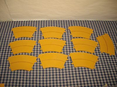 Vintage 1965 Ideal Motorific 10 Yellow/Gold Curved Track Pieces