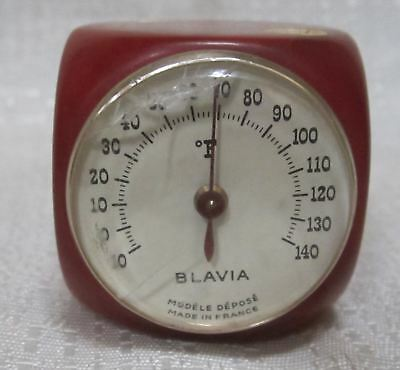 """Bakelite Catalin large red dice and thermometer 1-1/2"""" by 1-1/2"""" 65 grams"""
