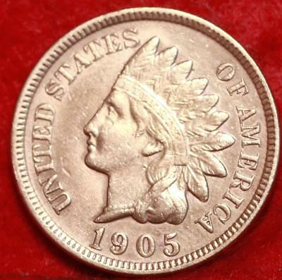 Uncirculated 1905 Philadelphia Mint Copper Indian Head Cent Free S/H