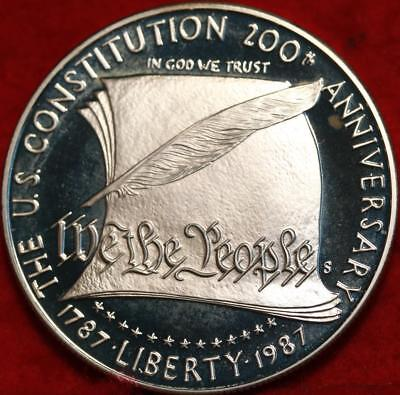 Uncirculated 1987-S San Francisco Mint Silver US Constitution $1 Free Ship