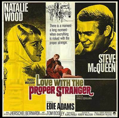 LOVE WITH THE PROPER STRANGER orig1964 6-sheet poster STEVE MCQUUEN/NATALIE WOOD