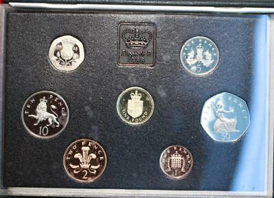 Uncirculated 1988 Great Britain Proof Set With Princess Diana Coin Free S/H