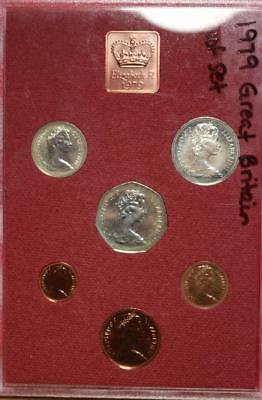 Uncirculated 1979 Great Britain Proof Set With Princess Diana Coin Free S/H