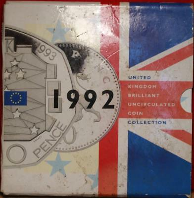 Uncirculated 1992 United Kingdom Brilliant Coin Collection Free S/H