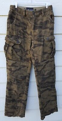 "Men's COLUMBIA PHG ""GALLATIN"" Range Wool CamoHUNTING PANTS sz 34"