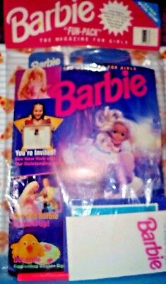 BARBIE The Magazine For Girls Mar/Apr 1994 Fun Pack Poster Outfit Notepad Pencil