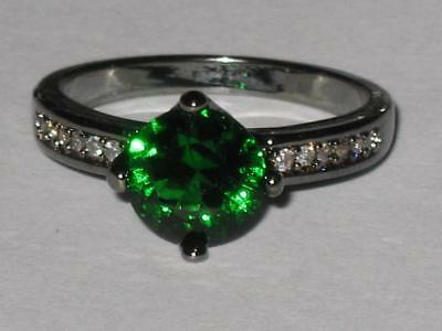 White Witch Estate Green Gem Ring 7.5 TALK TO ANGELS OPEN 3RD EYE MEDIUM CHANNEL