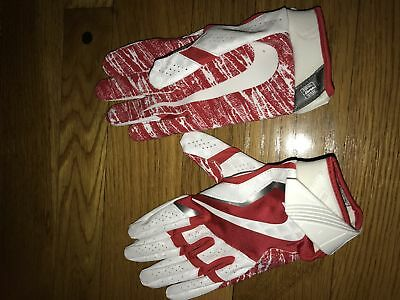 New Nike Vapor Jet 4 Receiver Gloves Red and White Adult Size Large!!!!!