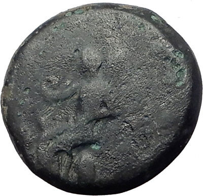 ELEUSIS in ATTICA near ATHENS 360BC Triptolemos Boar Ancient Greek Coin i64750