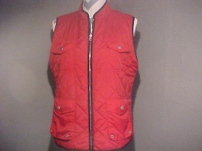 Women's Chico's size 2 Vest REVERSIBLE RED AND BLACK Light Weight