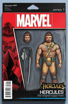 HERCULES #1, ACTION FIGURE VARIANT, New, First Print, Marvel Comics (2016)