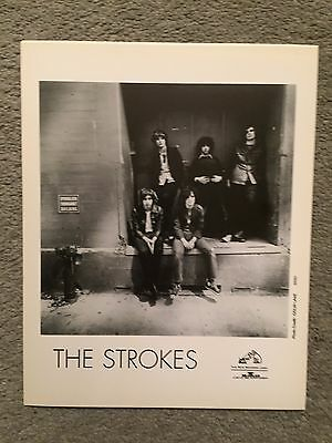 """THE STROKES band photo promo only B&W 8"""" x 10"""" publicity photo RARE OOP"""