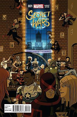 SECRET WARS #1 (of 9), PARTY VARIANT, New, First print, Marvel Comics (2016)