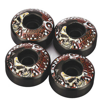 4pcs Professional Black and Red Skateboard Wheels 52 x 30mm