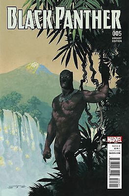 BLACK PANTHER #5, RIBIC CONNECTING A VARIANT, New, Marvel Comics (2016)
