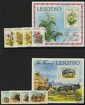 Lesotho 583-92 MNH Flowers, Lilies, Animals