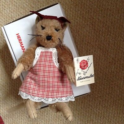 ltd edition Hermann teddy Mouse RARE Ltd Edition. Mohair., NEW.