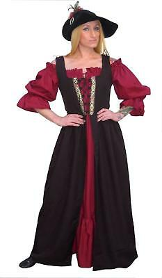 RENAISSANCE MEDIEVAL CLOTHES SCA PIRATE PEASANT COSTUME IRISH OVER DRESS Fd10-XL