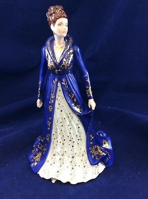 Royal Worcester Female Figurine ' A Winter Princess' In Box No 261 of 950