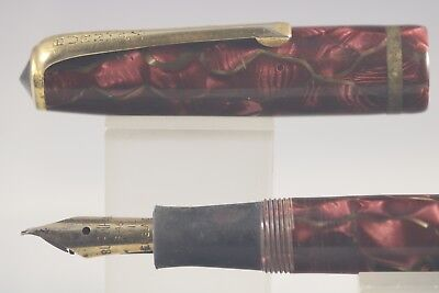 Vintage Burnham B48 Rose Pearl with Gold Vein Fountain Pen, Restoration Project