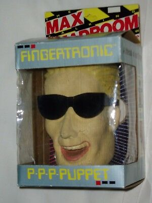 MAX HEADROOM   FINGERTRONIC PUPPET...original 1986...STILL IN BOX