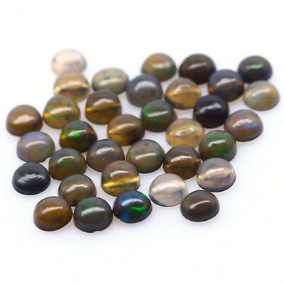 2.83 Ct Natural! 34Pcs Fancy Clr Play Ethiopia Opal Round Cabochon