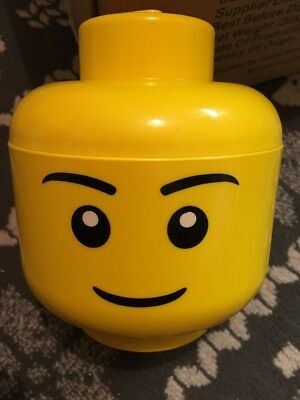 Official Lego Small Yellow Storage Head Container Box Tub Boy