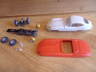 Vintage Tri-Ang Scalextric  Jaguar E Type Shells And Spares