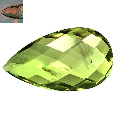 10.64Ct Sizzling Pear Cut 23 x 13 mm AAA Color Change Turkish Diaspore