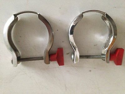 Two NW 40 Stainless Steel Clamping Rings