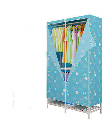 Blue Portable Wood Home Energy-saving Rotary Switch Electric Air Clothes Dryer