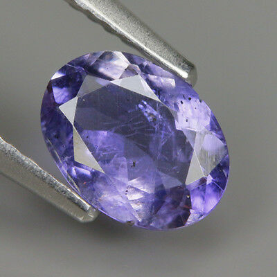 Precious 0.79 Ct  Natural Africa Violet IOLITE Oval Gemstone @ See Video !!