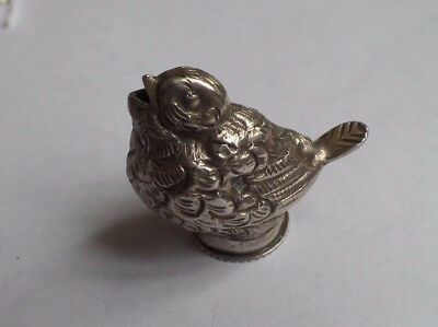 Antique / Vintage Egyptian Solid Silver Bird Salt / Pepper Pot