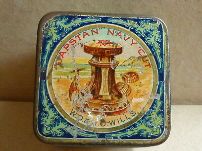 Vintage W.d. & H.o. Wills Capstan Navy Cut Cigarette Advertising Vesta Tin