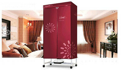 Red Mute Portable Home Energy-saving Rotary Drying Electric Air Clothes Dryer