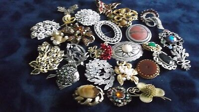 LARGE JOB LOT OF VINTAGE BROOCHES FOR SPARE OR REPAIR 99p   J 432