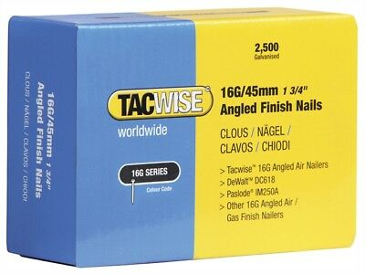 Tacwise 0769 16 Gauge Angled Nails 32mm For DC618K Box of 2500