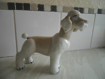 White And Beige Poodle Ornament - Russian ?