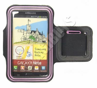 Pink Neoprene Armband Sports Gym Running Case Samsung Galaxy Note N7000 i9220